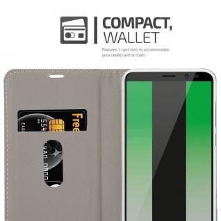 Cadorabo Hülle für Huawei MATE 10 LITE in HELL GRAU BRAUN - Handyhülle mit Magnetverschluss, Standfunktion und Kartenfach - Case Cover Schutzhülle Etui Tasche Book Klapp Style - Vorschau 5