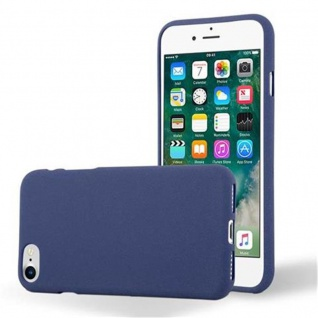 Cadorabo Hülle für Apple iPhone 7 / 7S / 8 / SE 2020 in FROST DUNKEL BLAU - Handyhülle aus flexiblem TPU Silikon - Silikonhülle Schutzhülle Ultra Slim Soft Back Cover Case Bumper