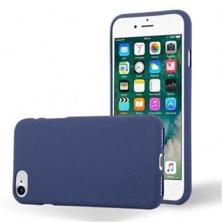 Cadorabo Hülle für Apple iPhone 7 / iPhone 7S / iPhone 8 in FROST DUNKEL BLAU - Handyhülle aus flexiblem TPU Silikon - Silikonhülle Schutzhülle Ultra Slim Soft Back Cover Case Bumper