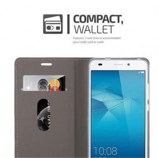 Cadorabo Hülle für Honor 5C in HELL GRAU BRAUN - Handyhülle mit Magnetverschluss, Standfunktion und Kartenfach - Case Cover Schutzhülle Etui Tasche Book Klapp Style - Vorschau 5