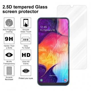 Cadorabo Panzer Folie für Samsung Galaxy A50 - Schutzfolie in KRISTALL KLAR - Gehärtetes (Tempered) Display-Schutzglas in 9H Härte mit 3D Touch Kompatibilität - Vorschau 4