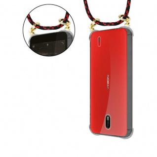 Cadorabo Handy Kette für Nokia 1 2017 in SCHWARZ ROT - Silikon Necklace Umhänge Hülle mit Gold Ringen, Kordel Band Schnur und abnehmbarem Etui ? Schutzhülle - Vorschau 5