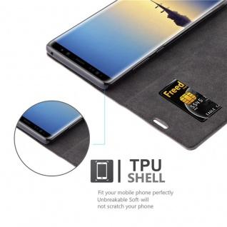 Cadorabo Hülle für Samsung Galaxy NOTE 8 in KAFFEE BRAUN - Handyhülle mit Magnetverschluss, Standfunktion und Kartenfach - Case Cover Schutzhülle Etui Tasche Book Klapp Style - Vorschau 2