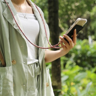 Cadorabo Handy Kette für HTC Desire 12 in COLORFUL PARROT - Silikon Necklace Umhänge Hülle mit Gold Ringen, Kordel Band Schnur und abnehmbarem Etui ? Schutzhülle - Vorschau 3