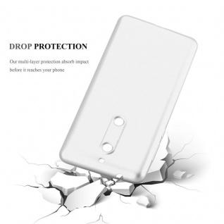 Cadorabo Hülle für Nokia 5 2017 in METALLIC SILBER - Handyhülle aus flexiblem TPU Silikon - Silikonhülle Schutzhülle Ultra Slim Soft Back Cover Case Bumper - Vorschau 3