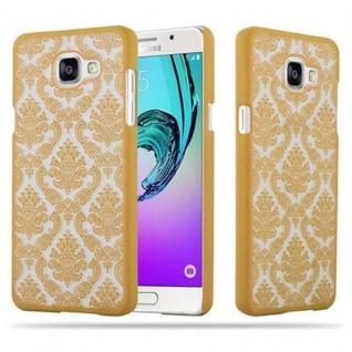 Samsung Galaxy A5 2016 Hardcase Hülle in GOLD von Cadorabo - Blumen Paisley Henna Design Schutzhülle ? Handyhülle Bumper Back Case Cover