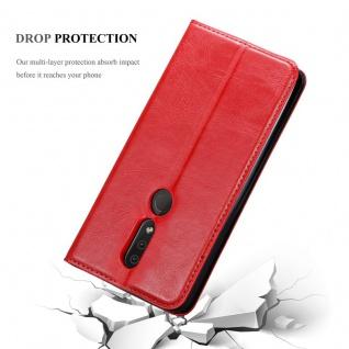 Cadorabo Hülle für Nokia 4.2 in APFEL ROT Handyhülle mit Magnetverschluss, Standfunktion und Kartenfach Case Cover Schutzhülle Etui Tasche Book Klapp Style - Vorschau 3