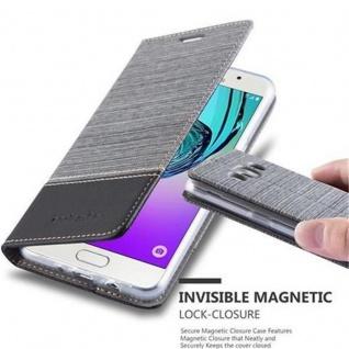 Cadorabo Hülle für Samsung Galaxy J5 2016 in GRAU SCHWARZ - Handyhülle mit Magnetverschluss, Standfunktion und Kartenfach - Case Cover Schutzhülle Etui Tasche Book Klapp Style