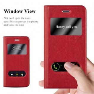 Cadorabo Hülle für Apple iPhone 6 / iPhone 6S in SAFRAN ROT ? Handyhülle mit Magnetverschluss, Standfunktion und 2 Sichtfenstern ? Case Cover Schutzhülle Etui Tasche Book Klapp Style - Vorschau 2