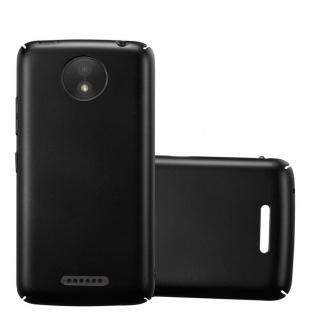 Cadorabo Hülle für Motorola MOTO C PLUS in METALL SCHWARZ Hardcase Handyhülle aus Plastik gegen Kratzer und Stöße Schutzhülle Bumper Ultra Slim Back Case Hard Cover