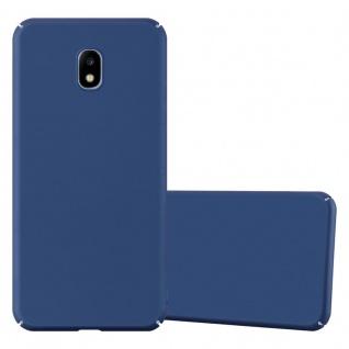 Cadorabo Hülle für Samsung Galaxy J3 2017 in METALL BLAU Hardcase Handyhülle aus Plastik gegen Kratzer und Stöße Schutzhülle Bumper Ultra Slim Back Case Hard Cover