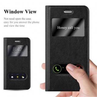 Cadorabo Hülle für Apple iPhone 6 / iPhone 6S in KOMETEN SCHWARZ - Handyhülle mit Magnetverschluss, Standfunktion und 2 Sichtfenstern - Case Cover Schutzhülle Etui Tasche Book Klapp Style - Vorschau 2