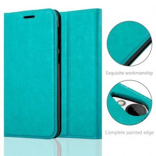 Cadorabo Hülle für HTC Desire 10 LIFESTYLE / Desire 825 in PETROL TÜRKIS - Handyhülle mit Magnetverschluss, Standfunktion und Kartenfach - Case Cover Schutzhülle Etui Tasche Book Klapp Style - Vorschau 2