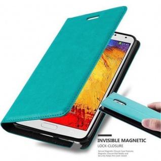 Cadorabo Hülle für Samsung Galaxy NOTE 3 in PETROL TÜRKIS Handyhülle mit Magnetverschluss, Standfunktion und Kartenfach Case Cover Schutzhülle Etui Tasche Book Klapp Style