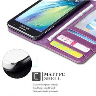 Cadorabo Hülle für Samsung Galaxy A3 2015 in BORDEAUX LILA - Handyhülle mit Magnetverschluss und 3 Kartenfächern - Case Cover Schutzhülle Etui Tasche Book Klapp Style - Vorschau 2