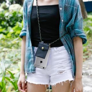 Cadorabo Handy Kette für Apple iPhone 6 PLUS / iPhone 6S PLUS in CAMOUFLAGE ? Silikon Necklace Umhänge Hülle mit Gold Ringen, Kordel Band Schnur und abnehmbarem Etui ? Schutzhülle - Vorschau 3