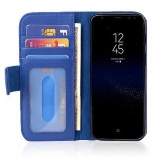 Cadorabo Hülle für Samsung Galaxy S8 in NEPTUN BLAU Handyhülle mit Magnetverschluss und 3 Kartenfächern Case Cover Schutzhülle Etui Tasche Book Klapp Style