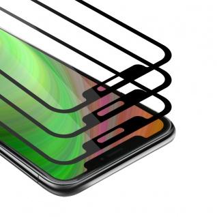 """Cadorabo 3x Vollbild Panzer Folie für Apple iPhone 12 / iPhone 12 Pro (6, 1"""" Zoll) Schutzfolie in TRANSPARENT mit SCHWARZ 3er Pack Gehärtetes (Tempered) Display-Schutzglas in 9H Härte mit 3D Touch"""