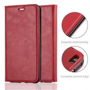 Cadorabo Hülle für Huawei P10 LITE in APFEL ROT Handyhülle mit Magnetverschluss, Standfunktion und Kartenfach Case Cover Schutzhülle Etui Tasche Book Klapp Style - Vorschau 2