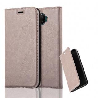 Cadorabo Hülle für WIKO WIM in KAFFEE BRAUN - Handyhülle mit Magnetverschluss, Standfunktion und Kartenfach - Case Cover Schutzhülle Etui Tasche Book Klapp Style