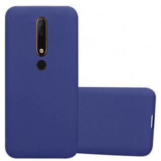 Cadorabo Hülle für Nokia 6.1 2018 in FROST DUNKEL BLAU - Handyhülle aus flexiblem TPU Silikon - Silikonhülle Schutzhülle Ultra Slim Soft Back Cover Case Bumper