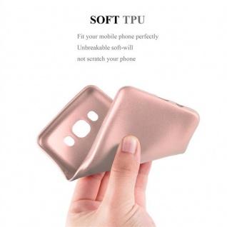 Cadorabo Hülle für Samsung Galaxy J5 2016 in METALLIC ROSÉ GOLD - Handyhülle aus flexiblem TPU Silikon - Silikonhülle Schutzhülle Ultra Slim Soft Back Cover Case Bumper - Vorschau 5