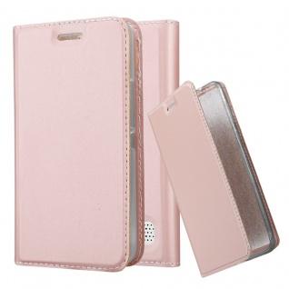Cadorabo Hülle für Sony Xperia E1 in CLASSY ROSÉ GOLD - Handyhülle mit Magnetverschluss, Standfunktion und Kartenfach - Case Cover Schutzhülle Etui Tasche Book Klapp Style