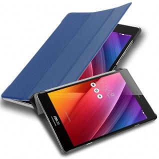"""Cadorabo Tablet Hülle für Asus ZenPad 8, 0 (8, 0"""" Zoll) (Z380M) in JERSEY DUNKEL BLAU Ultra Dünne Book Style Schutzhülle mit Auto Wake Up und Standfunktion aus Kunstleder"""