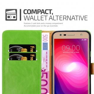 Cadorabo Hülle für LG X Power 2 in GRAS GRÜN - Handyhülle mit Magnetverschluss, Standfunktion und Kartenfach - Case Cover Schutzhülle Etui Tasche Book Klapp Style - Vorschau 5