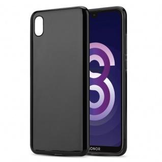 Cadorabo Hülle für Honor 8S in SCHWARZ - Handyhülle aus flexiblem TPU Silikon - Silikonhülle Schutzhülle Ultra Slim Soft Back Cover Case Bumper