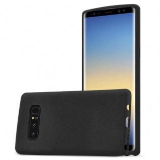 Cadorabo Hülle für Samsung Galaxy NOTE 8 in FROST SCHWARZ Handyhülle aus flexiblem TPU Silikon Silikonhülle Schutzhülle Ultra Slim Soft Back Cover Case Bumper