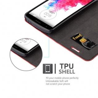 Cadorabo Hülle für LG G3 STYLUS in APFEL ROT Handyhülle mit Magnetverschluss, Standfunktion und Kartenfach Case Cover Schutzhülle Etui Tasche Book Klapp Style - Vorschau 2