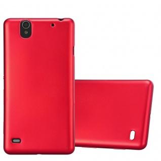 Cadorabo Hülle für Sony Xperia C4 in METALLIC ROT - Handyhülle aus flexiblem TPU Silikon - Silikonhülle Schutzhülle Ultra Slim Soft Back Cover Case Bumper