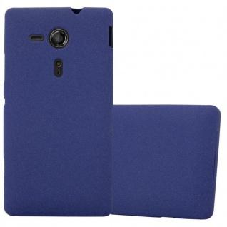 Cadorabo Hülle für Sony Xperia SP in FROST DUNKEL BLAU - Handyhülle aus flexiblem TPU Silikon - Silikonhülle Schutzhülle Ultra Slim Soft Back Cover Case Bumper