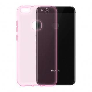 Cadorabo Hülle für Huawei P9 LITE - Hülle in TRANSPARENT PINK ? Handyhülle aus TPU Silikon im Ultra Slim 'AIR' Design - Ultra Slim Soft Backcover Case Bumper