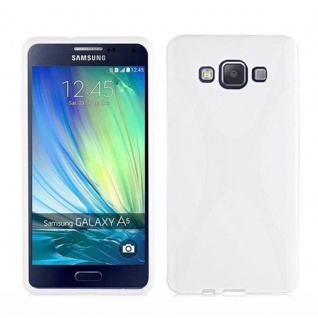 Cadorabo Hülle für Samsung Galaxy A7 2015 in MAGNESIUM WEIß - Handyhülle aus flexiblem TPU Silikon - Silikonhülle Schutzhülle Ultra Slim Soft Back Cover Case Bumper