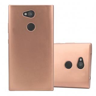 Cadorabo Hülle für Sony Xperia L2 in METALLIC ROSÉ GOLD - Handyhülle aus flexiblem TPU Silikon - Silikonhülle Schutzhülle Ultra Slim Soft Back Cover Case Bumper