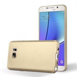 Cadorabo Hülle für Samsung Galaxy NOTE 5 in METALLIC GOLD Handyhülle aus flexiblem TPU Silikon Silikonhülle Schutzhülle Ultra Slim Soft Back Cover Case Bumper
