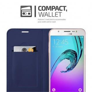 Cadorabo Hülle für Samsung Galaxy J7 2016 in CLASSY DUNKEL BLAU - Handyhülle mit Magnetverschluss, Standfunktion und Kartenfach - Case Cover Schutzhülle Etui Tasche Book Klapp Style - Vorschau 3