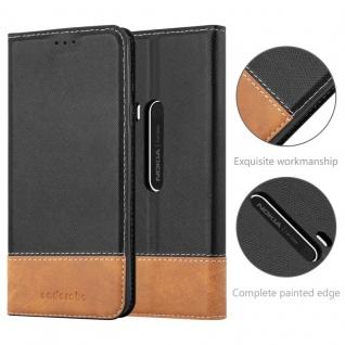 Cadorabo Hülle für Nokia Lumia 920 in SCHWARZ BRAUN ? Handyhülle mit Magnetverschluss, Standfunktion und Kartenfach ? Case Cover Schutzhülle Etui Tasche Book Klapp Style - Vorschau 5