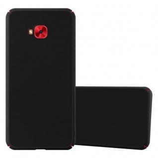 Cadorabo Hülle für Asus ZenFone 4 Selfie PRO in METALL SCHWARZ Hardcase Handyhülle aus Plastik gegen Kratzer und Stöße Schutzhülle Bumper Ultra Slim Back Case Hard Cover