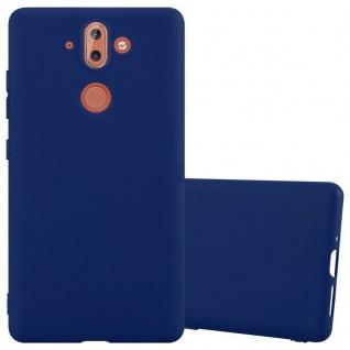 Cadorabo Hülle für Nokia 8 Sirocco in CANDY DUNKEL BLAU - Handyhülle aus flexiblem TPU Silikon - Silikonhülle Schutzhülle Ultra Slim Soft Back Cover Case Bumper