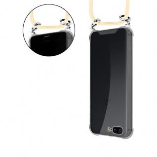 Cadorabo Handy Kette für OnePlus 5 in CREME BEIGE - Silikon Necklace Umhänge Hülle mit Silber Ringen, Kordel Band Schnur und abnehmbarem Etui - Schutzhülle - Vorschau 5