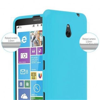 Cadorabo Hülle für Nokia Lumia 1320 in JELLY HELL BLAU - Handyhülle aus flexiblem TPU Silikon - Silikonhülle Schutzhülle Ultra Slim Soft Back Cover Case Bumper - Vorschau 5