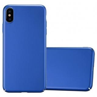 Cadorabo Hülle für Apple iPhone XS MAX in METALL BLAU - Hardcase Handyhülle aus Plastik gegen Kratzer und Stöße - Schutzhülle Bumper Ultra Slim Back Case Hard Cover