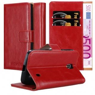 Cadorabo Hülle für Nokia 1 2017 in WEIN ROT Handyhülle mit Magnetverschluss, Standfunktion und Kartenfach Case Cover Schutzhülle Etui Tasche Book Klapp Style