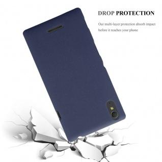 Cadorabo Hülle für Sony Xperia T3 in FROSTY BLAU - Hardcase Handyhülle aus Plastik gegen Kratzer und Stöße - Schutzhülle Bumper Ultra Slim Back Case Hard Cover - Vorschau 4
