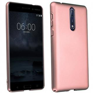 Cadorabo Hülle für Nokia 8 2017 in METALL ROSÉ GOLD - Hardcase Handyhülle aus Plastik gegen Kratzer und Stöße - Schutzhülle Bumper Ultra Slim Back Case Hard Cover