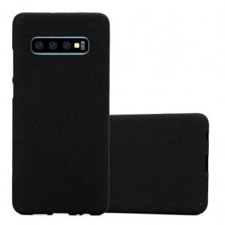 Cadorabo Hülle für Samsung Galaxy S10 PLUS in FROST SCHWARZ - Handyhülle aus flexiblem TPU Silikon - Silikonhülle Schutzhülle Ultra Slim Soft Back Cover Case Bumper
