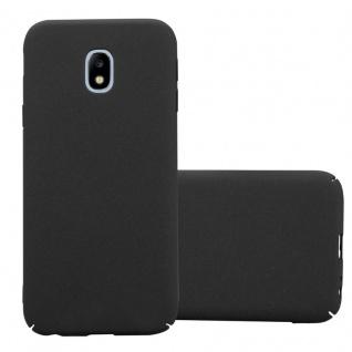 Cadorabo Hülle für Samsung Galaxy J7 2017 in FROSTY SCHWARZ - Hardcase Handyhülle aus Plastik gegen Kratzer und Stöße - Schutzhülle Bumper Ultra Slim Back Case Hard Cover